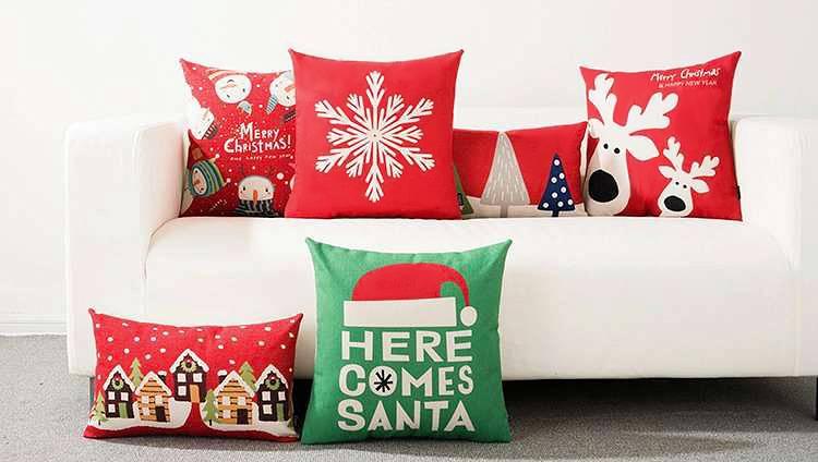 Świąteczne poduszki dekoracyjne
