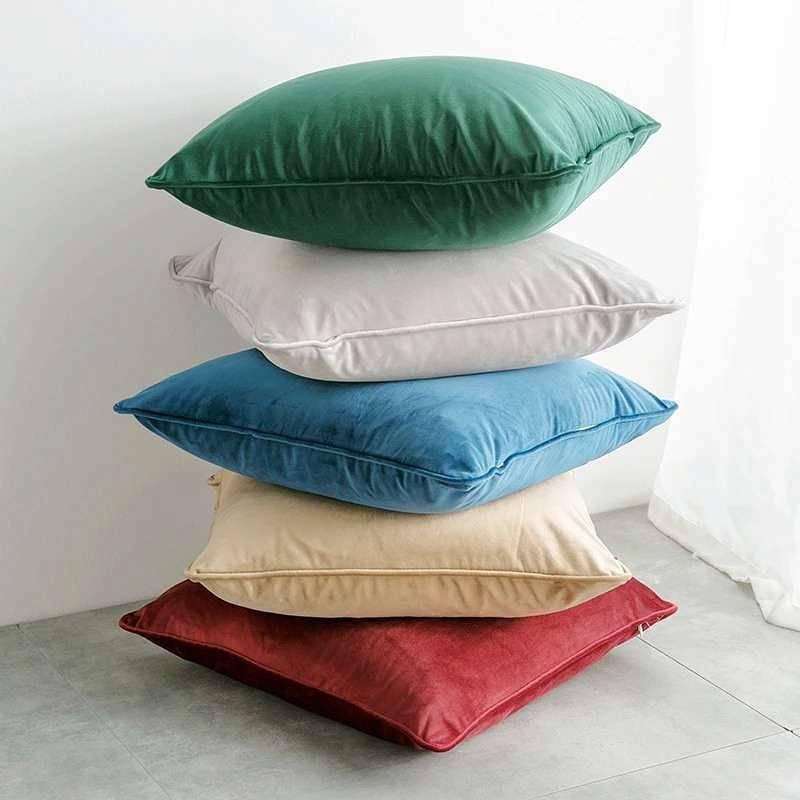 Poduszki dekoracyjne 45x45cm, aksamitne, zielona